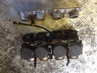 bike carbs with cut down zetec manifold