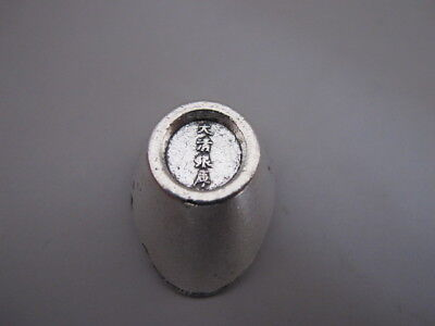 China old Tibetan silver hand made lucky YUANBAO ingot statue