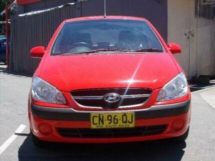 2010 Hyundai Getz TB MY09 S Red 5 Speed 5 SP MANUAL Hatchback