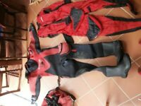 Outer Edge Neoprene Drysuit, Undersuit, size M/L size 9 boots Very good condition.