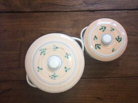 Caleca Italy hand painted set of 70 pieces dining serving min 8-10