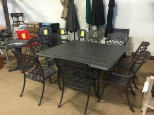CLEARANCE!!!! Square Outdoor Patio Furniture Dining Set