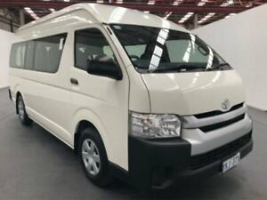 2014 Toyota Hiace TRH223R MY14 COMMUTER HIGH ROOF SUPER LWB White Automatic Bus
