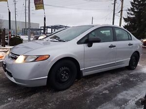 2007 Honda Civic DX-G, COMES WITH WINTER RIMS AND TIRES  165 KMS