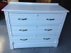 Old Country Rustic White Wooden dressers 2 available Unrestored