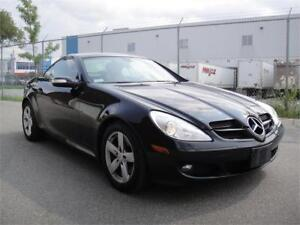 2007 MERCEDES-BENZ SLK280 CONVERTIBLE-AMAZING SHAPE,RED LEATHER