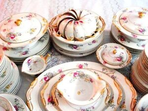 Vintage Limoges B&C Dinner & Dessert Set.Wedding gift.RARE