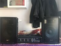 PA system or dj set up using aux cable