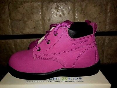 Classic Fuchsia  Leather  Shoes by Rockport Kids Toddlers/Infants Size 6 M ()