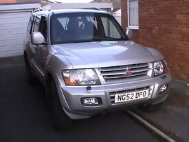 MITSUBISHI SHOGUN 3.2 DID EQUIPPE 2002 SILVER PRICED TO SELL