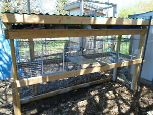 Rabbit Hutch and cages $120.00 or reasonable offer