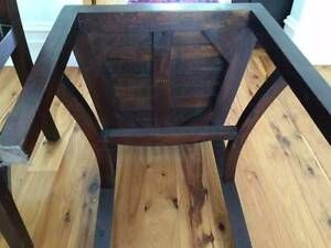 Dining chairs - 6 high back wooden chairs Annandale Leichhardt Area Preview