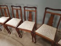 6 Antique reproduction chairs