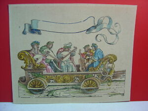 18th-or-19th-Century-Hand-Colored-5-Musician-Bandwagon-Chain-Laid-Paper-Print