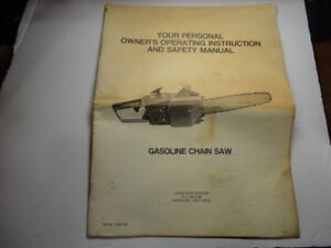 Lombard 1-3297 Gasoline Chainsaw Manual