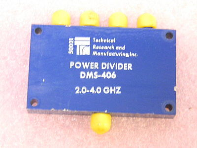 Trm Dms406 4-way Wilkinson Octive Power Divider 2 To 4 Ghz Smaf