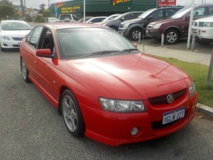 2006 Holden Commodore VZ MY06 SV6 Red 5 Speed Automatic Sedan Victoria Park Victoria Park Area Preview