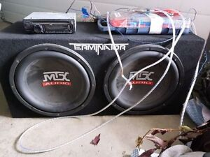 dual 12 inch MTX sub-woofer package.