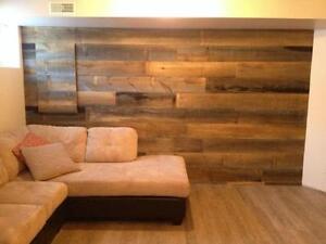 bois de pin blanc et style bois de grange