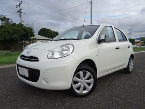 2014 Nissan Micra K13 MY13 ST White 4 Speed Automatic Hatchback Vincent Townsville City Preview