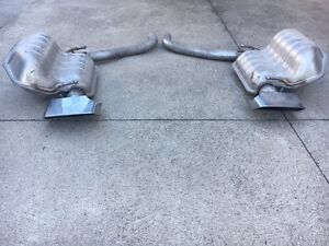 2016 DODGE CHALLENGER R/T HEMI DUAL EXHAUST PIPES OEM