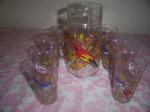 pitcher set of ten glasses.