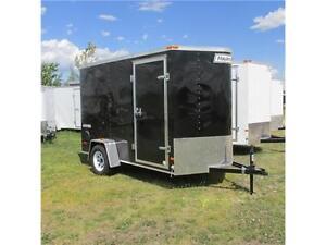 2015 Haulmark 6X10 V-Nose Cargo Trailer Black w. Spare and Ramp Edmonton Edmonton Area image 2