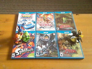 Wii U games for sale, some with amiibos