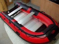 new 380 3.8m inflatable boat new aluminium deck v keel diving fishing etc
