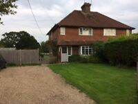 Large 2 Bedroom Semi Detached House surrounded by fields with a large garden and gravel drive