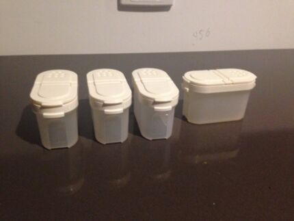 Set of four small Tupperware spice containers Warrandyte Manningham Area Preview