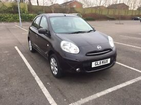 2011(New Shape)Nissan Micra 1.2 Great Spec,Only 44,700miles FNSH,Full Yr MOT Mar18,£30 Tax,Bluetooth