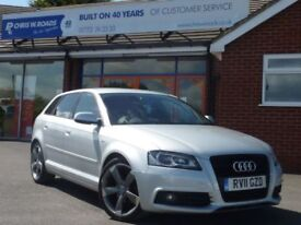 AUDI A3 2.0 SPORTBACK TDI S LINE SPECIAL EDITION 5dr ** Previously sold by us ** (silver) 2011