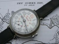 Rolex WW1 antique vintage trench watch military 24 hour dial fully working