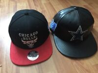 2 Mitchell & Ness NBA NFL snapbacks