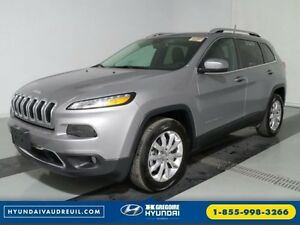 2016 Jeep Cherokee Limited 4x4 GPS Pano Cuir Demarreur Bluetooth