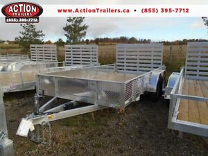 14' TANDEM ALUMINUM TRAILER - TONS OF FEATURES - LOW PRICE!