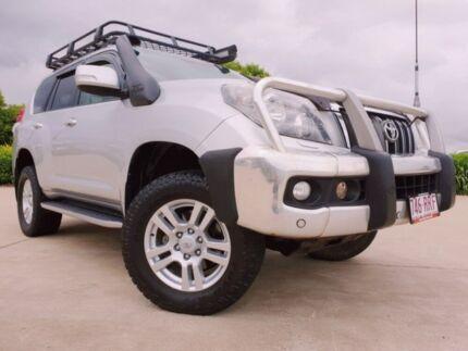 2011 Toyota Landcruiser Prado KDJ150R VX Silver 5 Speed Sports Automatic Wagon Garbutt Townsville City Preview