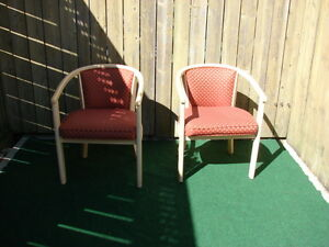 Pair of Virginia red cushion chairs