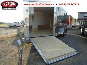"19' ALL ALUMINUM DRIVE IN/OUT SPORT TRAILER W/ 6"" EXTRA HEIGHT!!"