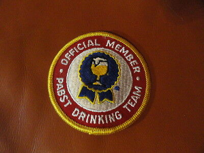 "PABST DRINKING TEAM PATCH ""Official Member"" 3 1/4 inches VINTAGE Pabst Beer"