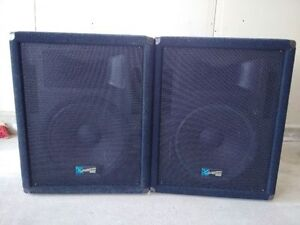 2 POWERFUL Yorkville Y 150 300 watt Speakers