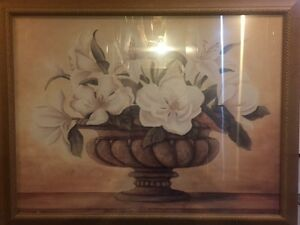 Framed Flower Wall Painting Picture