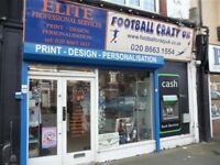 SPECIALIST FOOTBALL SPORTS SHOP BUSINESS REF 143672