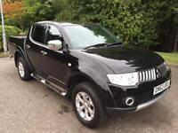 2012 62 MITSUBISHI L200 2.5 DI-D 4X4 WARRIOR LEATHER NO VAT PICK UP 175 BHP DIES