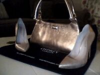 Gold Osprey Handbag and Office Shoes