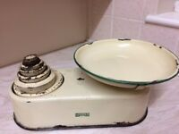 Vintage Weighing Scales with imperial set of weights