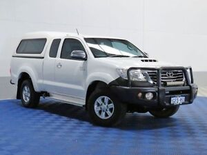2013 Toyota Hilux KUN26R MY12 SR5 (4x4) White 5 Speed Manual Extracab Morley Bayswater Area Preview