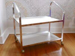 Chrome Cart on Casters - Excellent Cond.