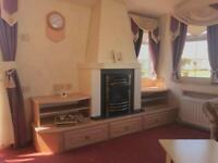 Homely 6 berth static caravan on the stunning Ayrshire coast